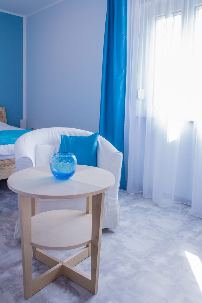 sanftes Licht lädt zum entspannen ein im Apartment 1 Türkis - Pension-Wildau