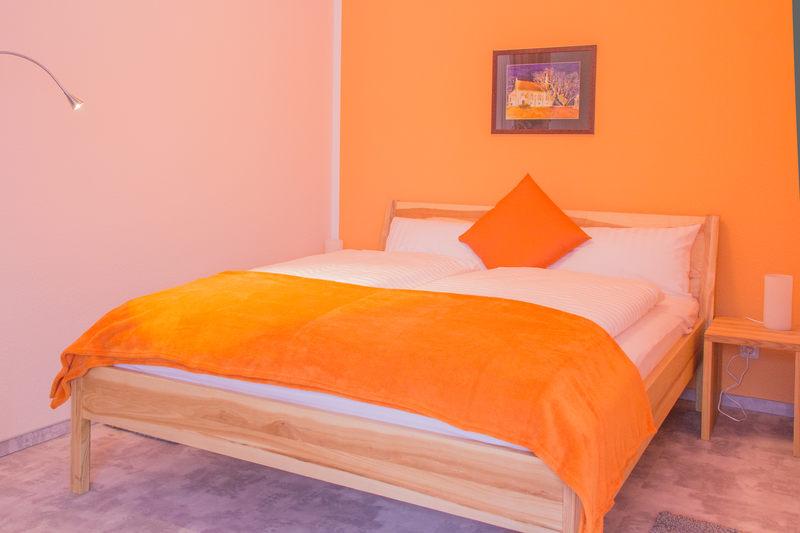 Schlafbereich Apartment Bernstein - Pension-Wildau