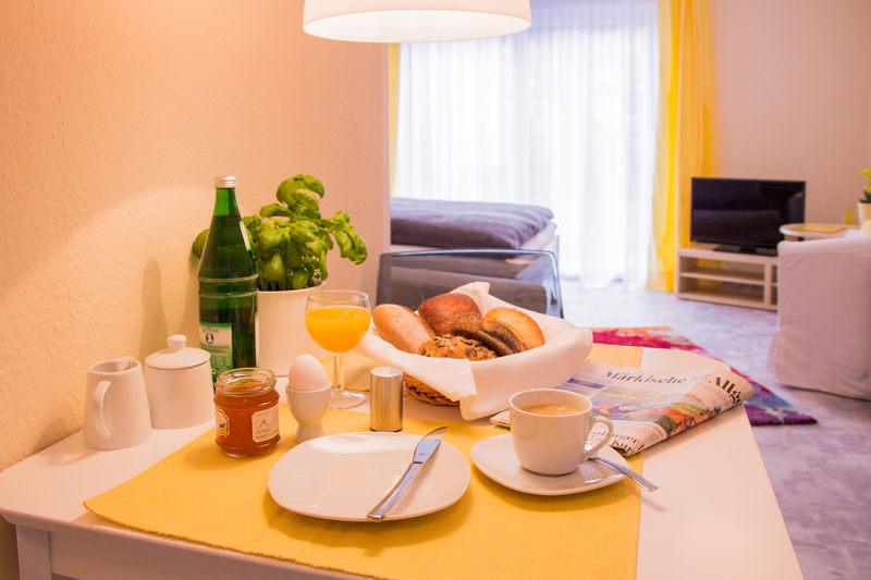 Beispiel Frühstück Apartment Citrin - Pension-Wildau