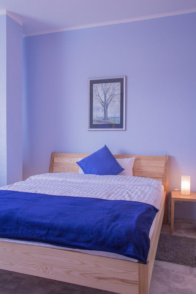 Schlafbereich Apartment Saphir - Pension-Wildau